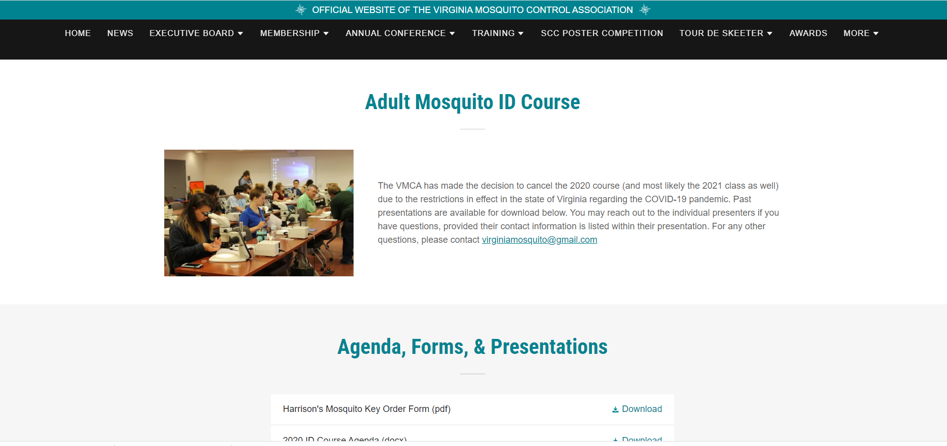Mosquito ID Course